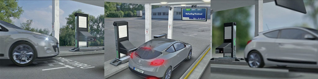 Automatic Gas Pump Station